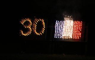 Feuerwerk beim Partnerschaftsfest 2017