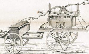 Feuerlöschmaschine aus dem Prospekt der Herstellerfirma